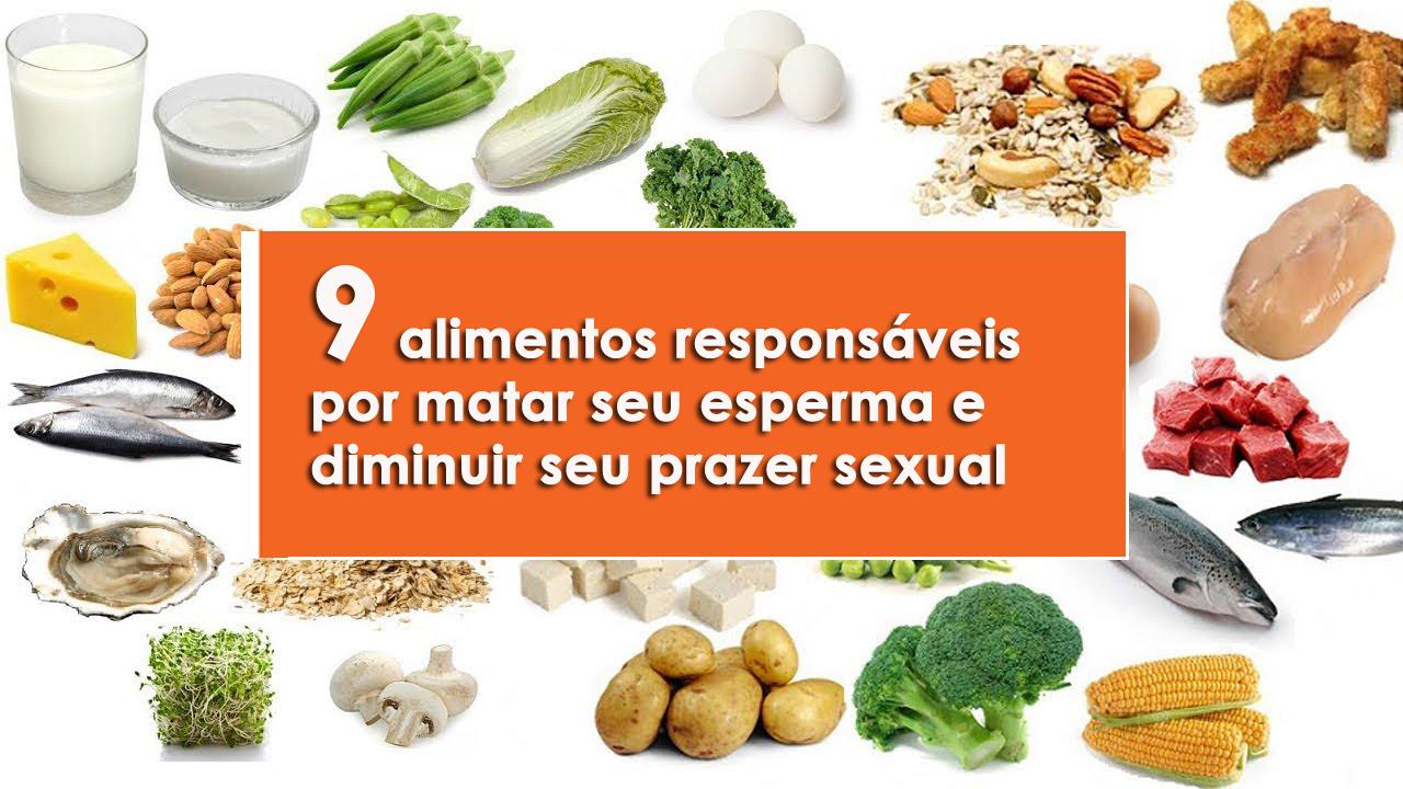 alimentos responsáveis por matar seu esperma