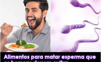alimentos para matar esperma que os homens devem evitar